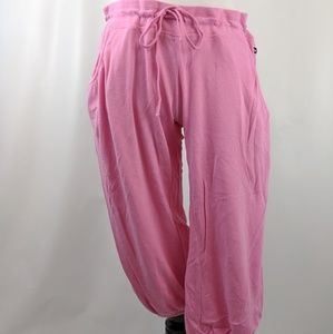 Pink Small Capri Length Lounge Pants with Pockets